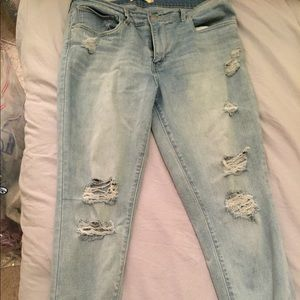 Levi's high waisted distressed denim pants